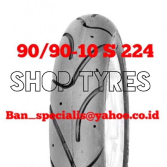 Ban motor tubeless swallow 90/90-10 S 224