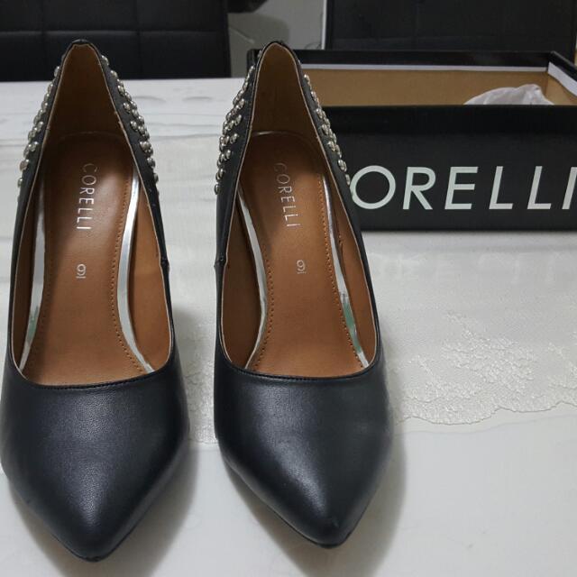 Black High Heels With Studs Corelli