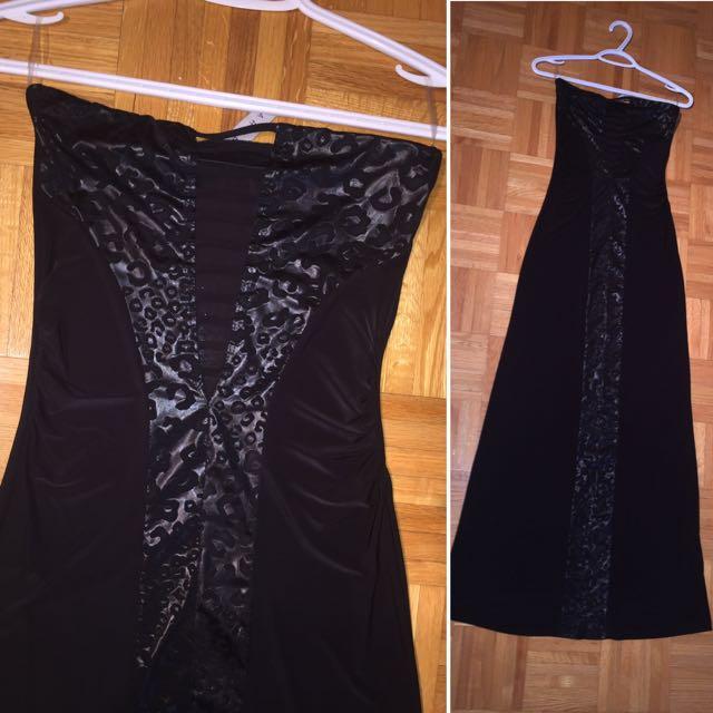 Black Leopard Maxi Dress