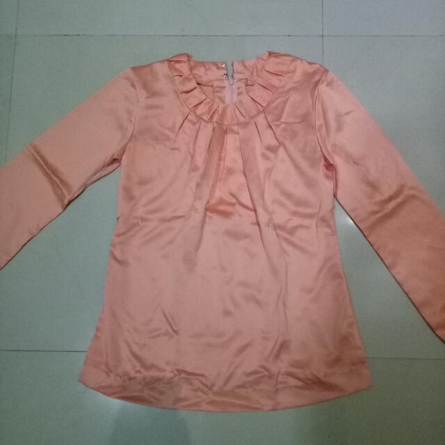 Blouse Velvet Peach