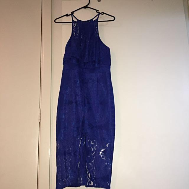 Blue Lace Dress Size 10