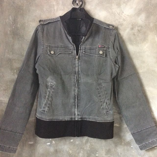 Body Glove Gray Jacket with Zipper Front