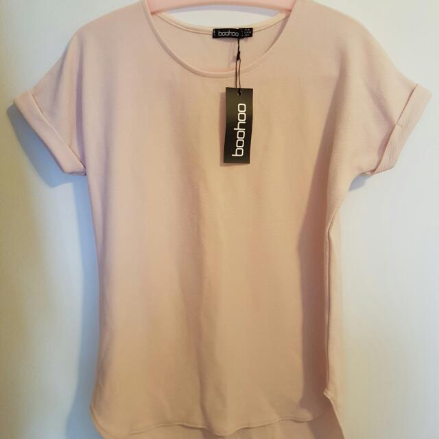 Boohoo Cream Short Sleeve Tee