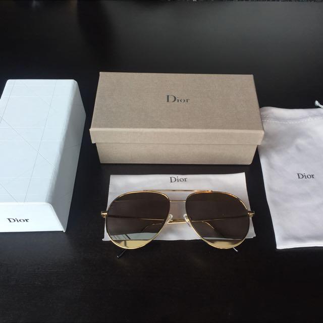 Brand New - Christian Dior - DIOR SPLIT 1Gold Silver 000DC 100%UV Mirrored Sunglasses