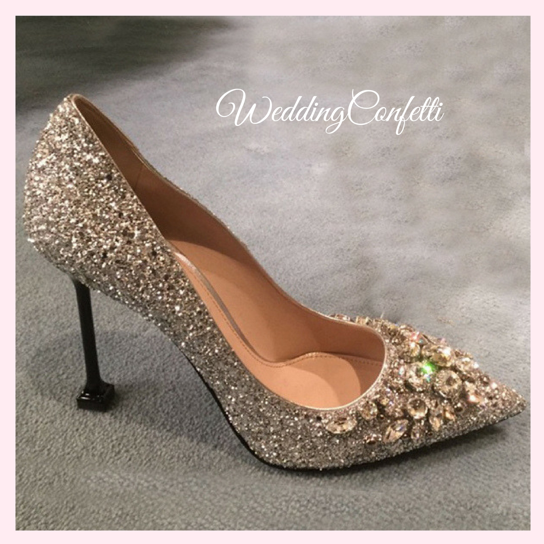 Brand New Wedding Bridal Gold Silver Wedding Shoes Heels