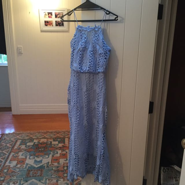 Brand New With Tags Baby Blue Lace Dress