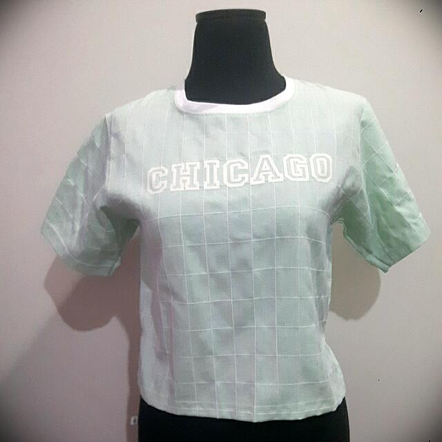 Chicago Top Hijau Tosca