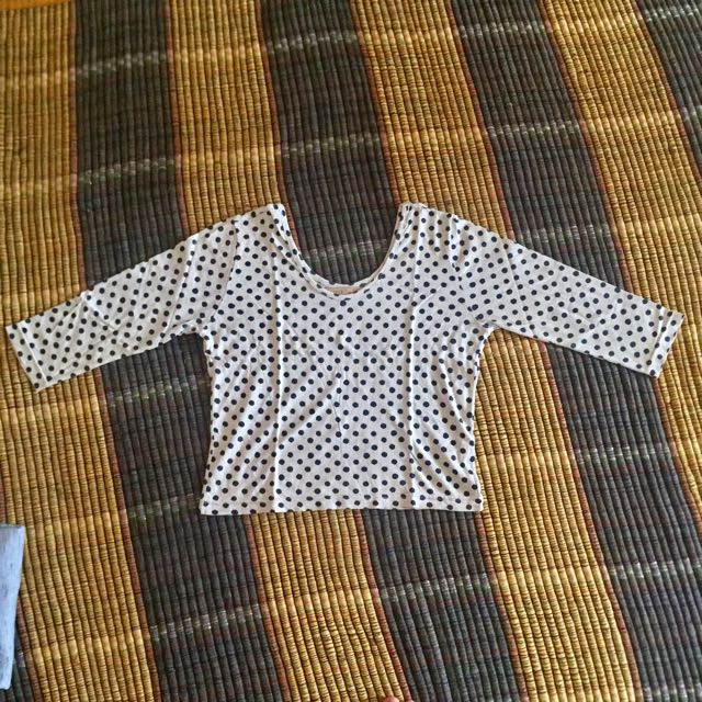 Croped Top Polka