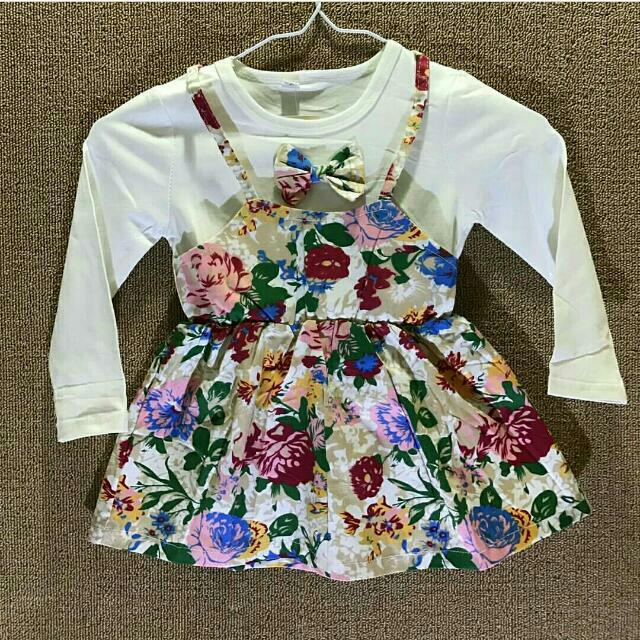 Dress Baby Flower Blue (New)