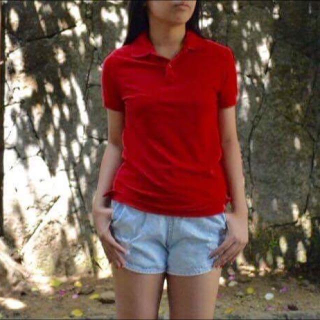 Folded n Hung Red Polo Tshirt