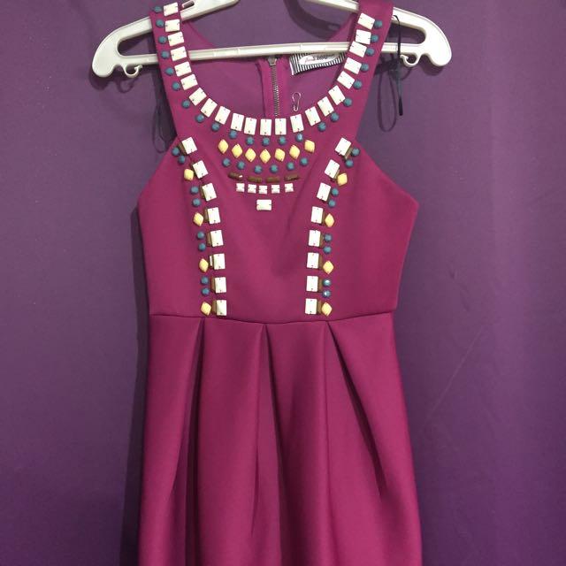 Fuchsia Pink Mini Dress