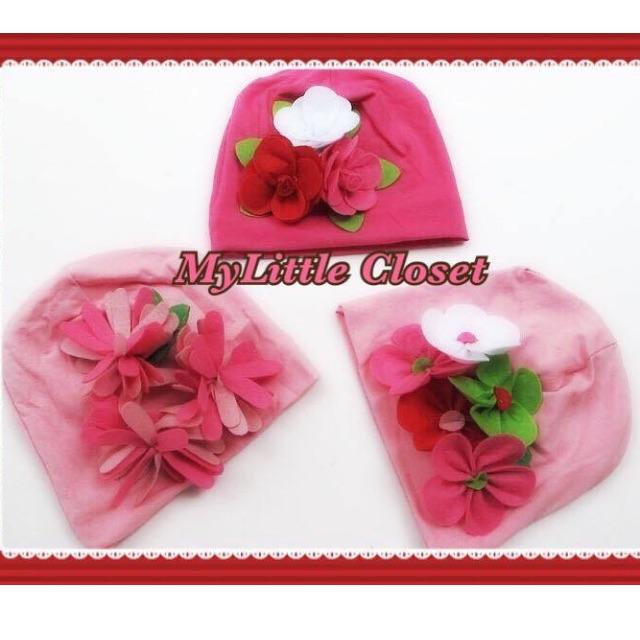 Girl 3D flowers hat