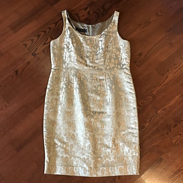 Gold Sheath Dress, Size 10
