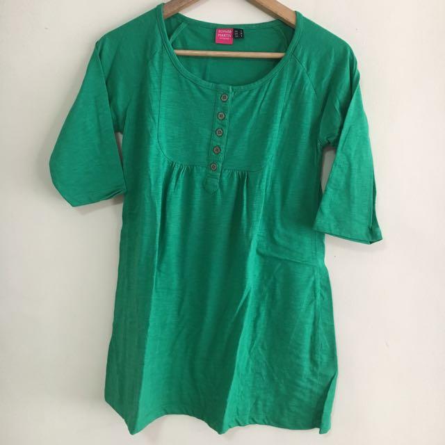 Green Dress Blouse/Top