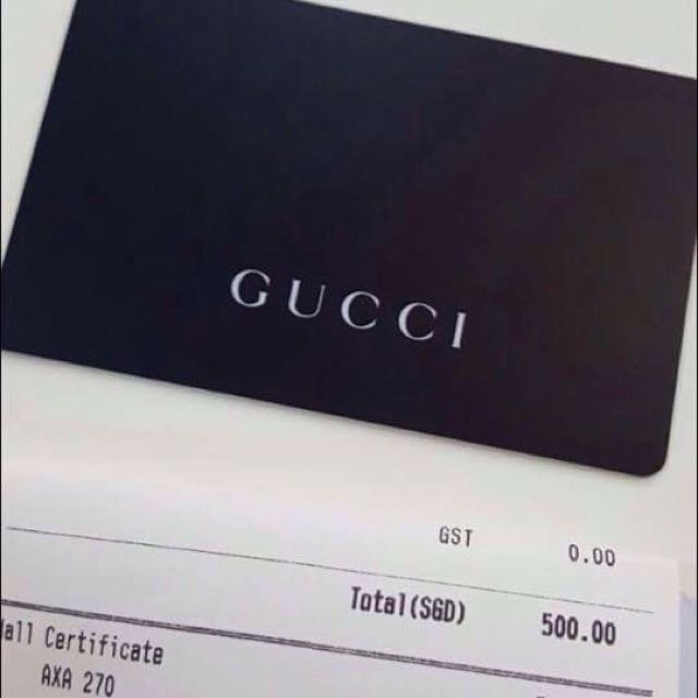 8764848896 GUCCI gift Card$500, Entertainment, Gift Cards & Vouchers on Carousell