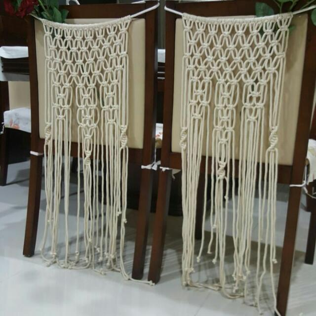 Handmade Macrame Wedding Chairs Decor