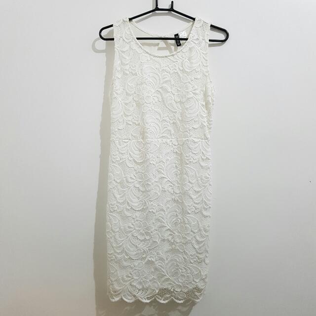 H&M White Lace Dress