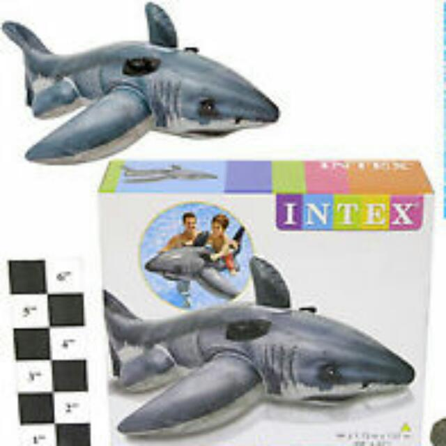 Intex Inflatable Great White Shark Ride-On Pool Float Ages 3+