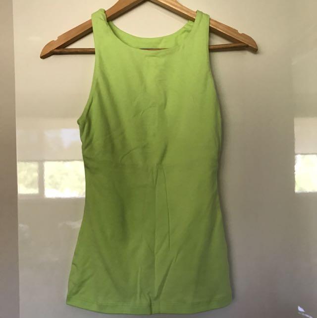 Lime Green Kookai Singlet