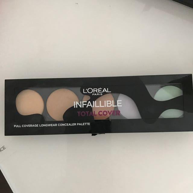 L'oreal Full Coverage Concealer Palette Infaillible Total Cover Color Corrector