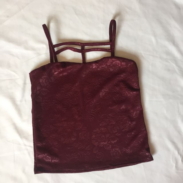 Maroon Styled Top