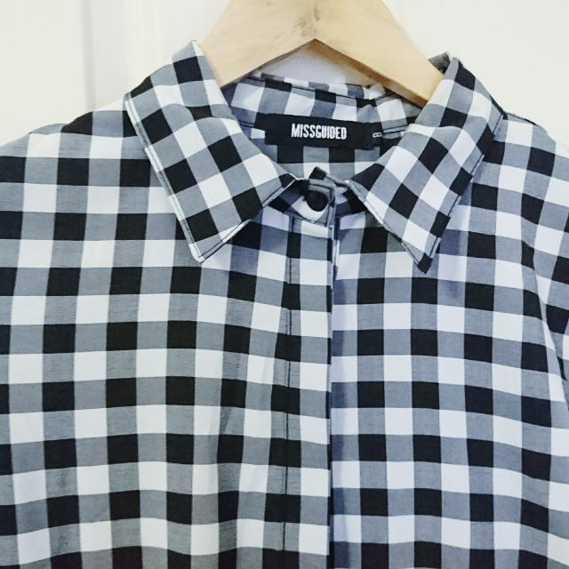 Misguided Gingham Smock Dress