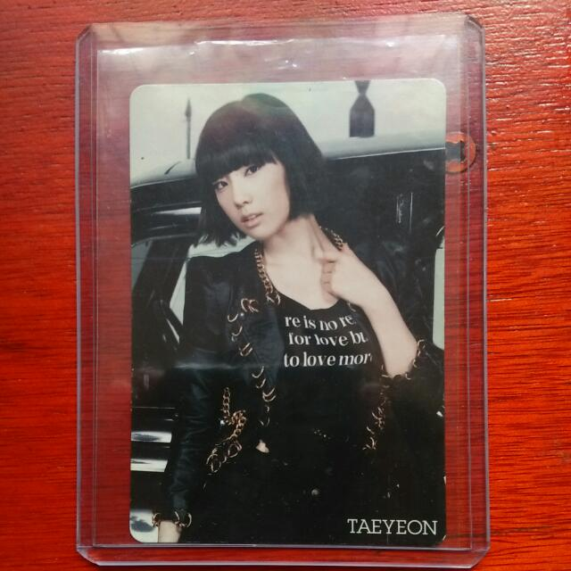 [Official PC] Taeyeon From Mr. Taxi Japan Version (Rare Photocard)