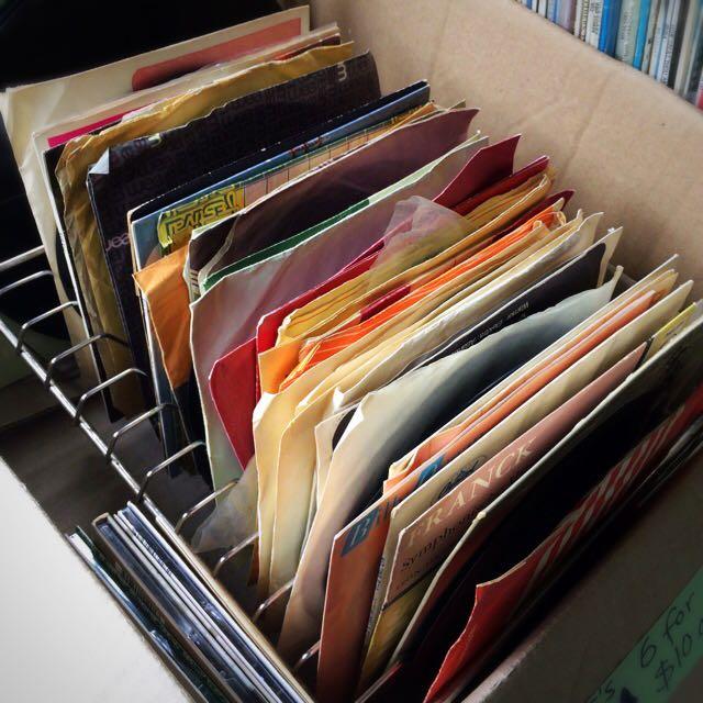 Old Vinyl Records (45's)