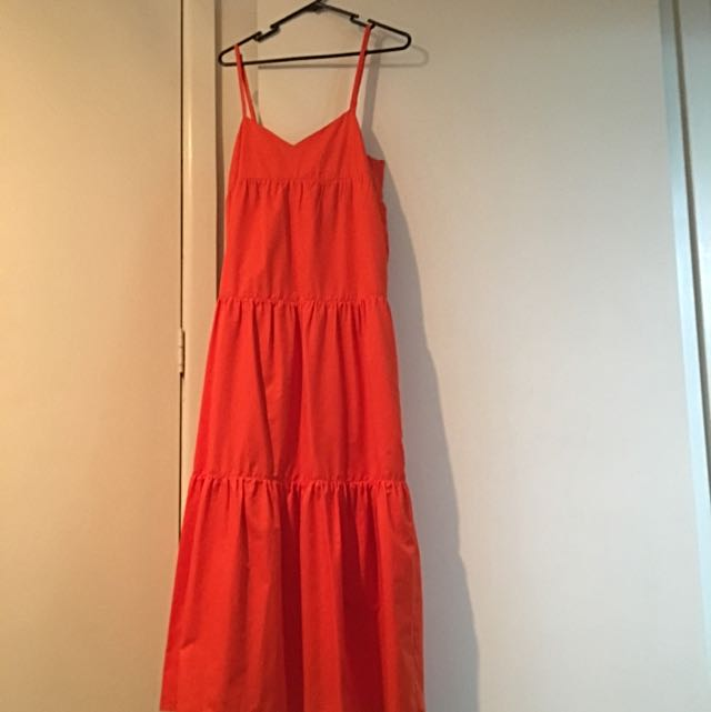 Orange Maxi Dress: Size 10