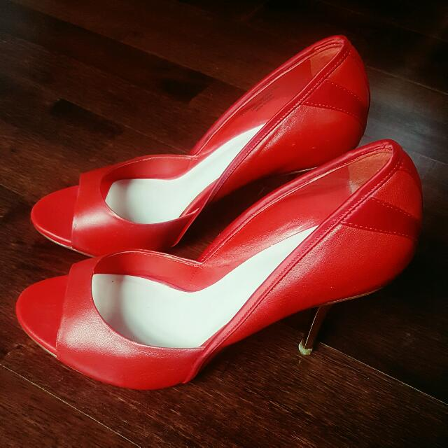 Pedro Red Glam Pump Shoes