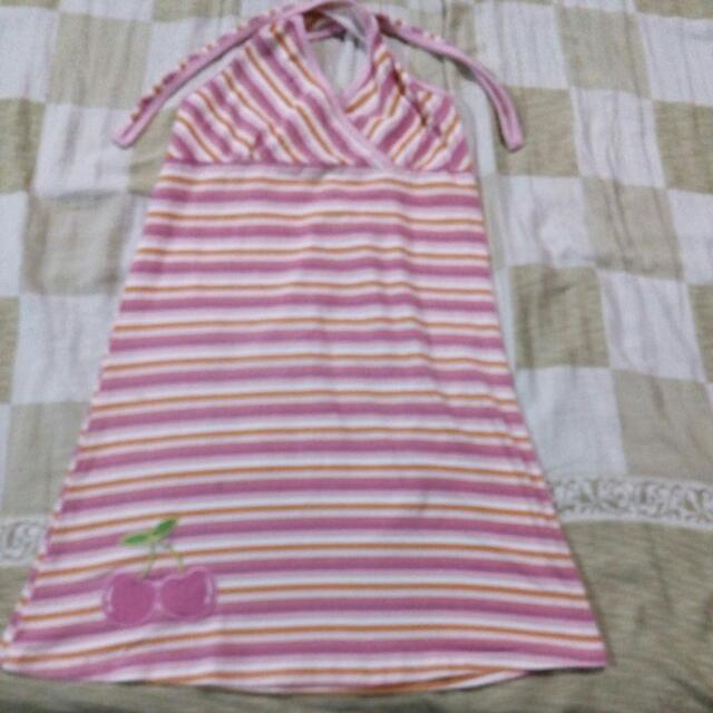 Pink Stripes Summer Dress