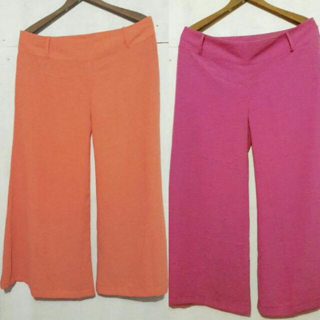 Pre-loved TOMATO Palazzo Pants / Square pants (purple Available)