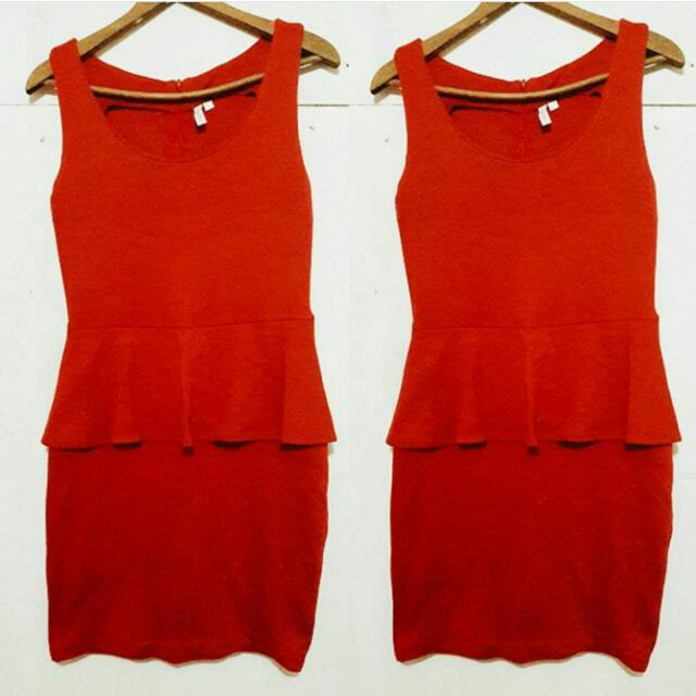 Red Peplum Dress from PENSHOPPE