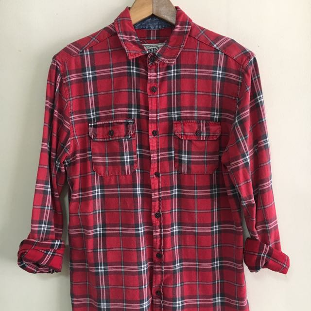 Red Plaid long Sleeves