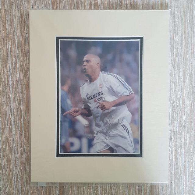 Ronaldo (Luís Nazário de Lima) Cardboard Framed
