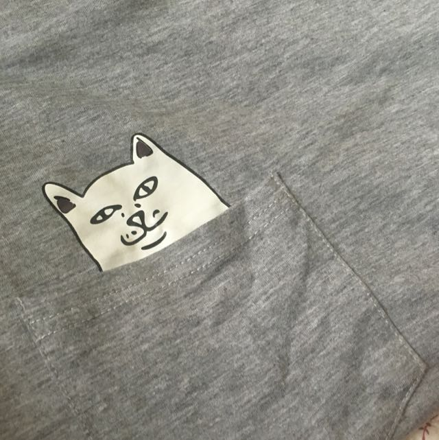 Rude Pocket Cat Tee