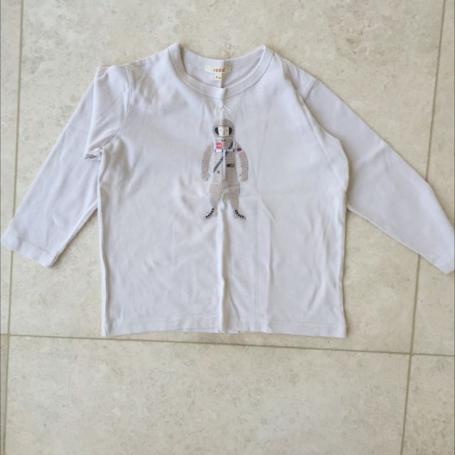 SEED BOYS LONG SLEEVE T SHIRT SIZE 3-4 NEW