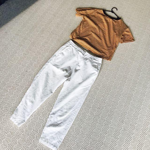 Seed Cotton Long White Pants