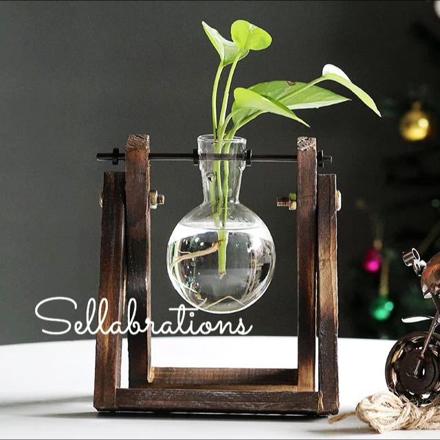 Carousell & Sellabrations] Conical Flask Laboratory Inspired Flower Vase ...