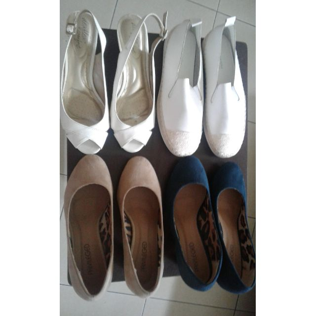 SHOES set of 3 (White sneakers SOLD);REPRICED from 1k to 600 (200@)