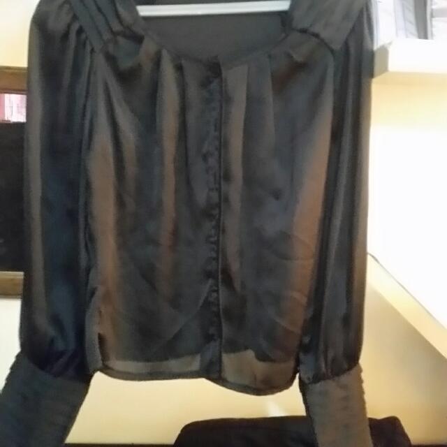 Silk Long Sleeves Top