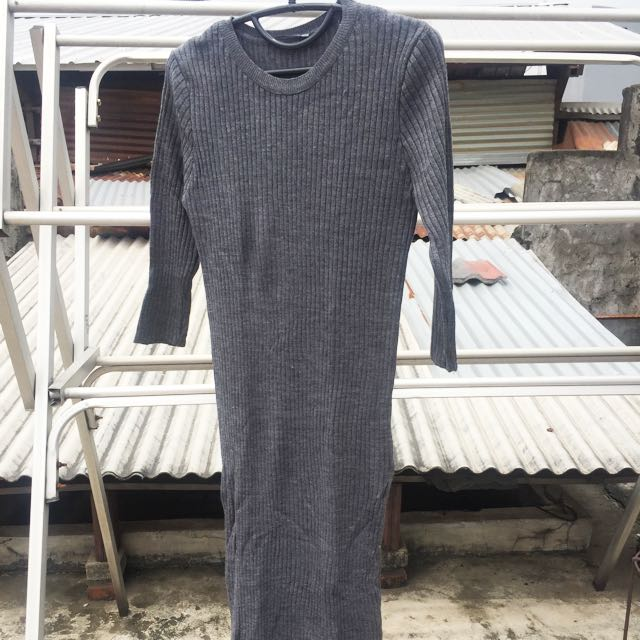 Stadivarius Dark Grey Dress (nego)