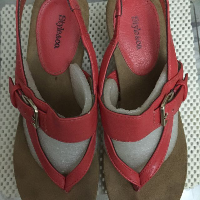 Style & Co. Woman Canvas Wedge Sandals