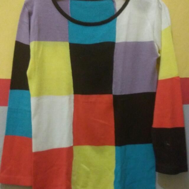 Sweater Rajut Warna Warni