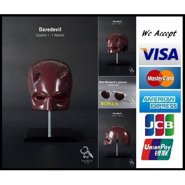 acb8cdb79a918 TAURUS STUDIO Custom Wearable 1 1 Daredevil Helmet Dare Devil 1 1 ...
