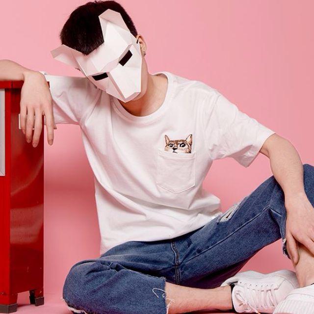 貓咪刺繡TEE 男生女生