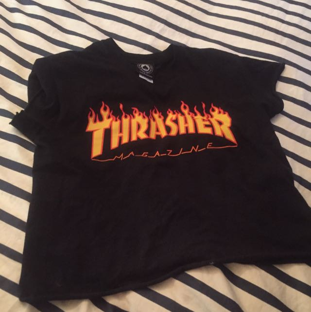 Thrasher Cropped T-shirt