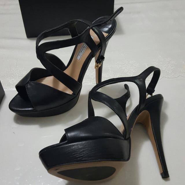 Tony Bianco Black Leather 7.5