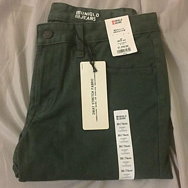 UNIQLO 墨綠色長褲