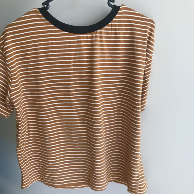 Vintage Orange Striped T